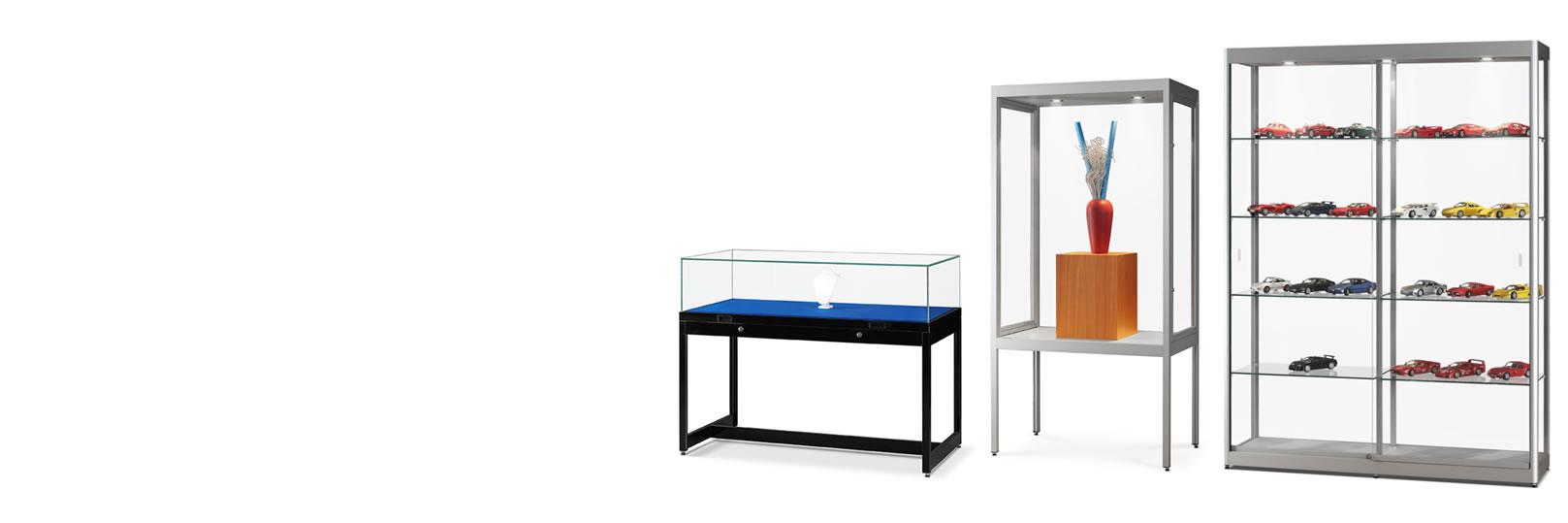 Prosklené vitríny na produkty a exponáty